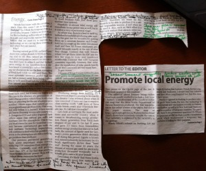 Advertiser letter anonymously annotated