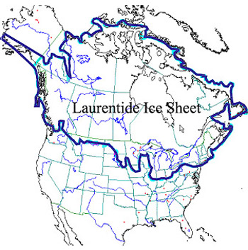 laurentide-ice-sheet Ice Age North America Map Stages Of Retreat on ice age map asia, glaciers in north america, ice age glaciers north america, dinosaur map of north america, ice age europe map, extent of glaciation in north america, pleistocene ice age north america, first map of north america, ice age mammals of north america, jurassic map of north america, home map of north america, ice age map china, ice age map africa,