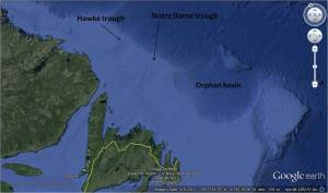 NL shelf from Google Earth_