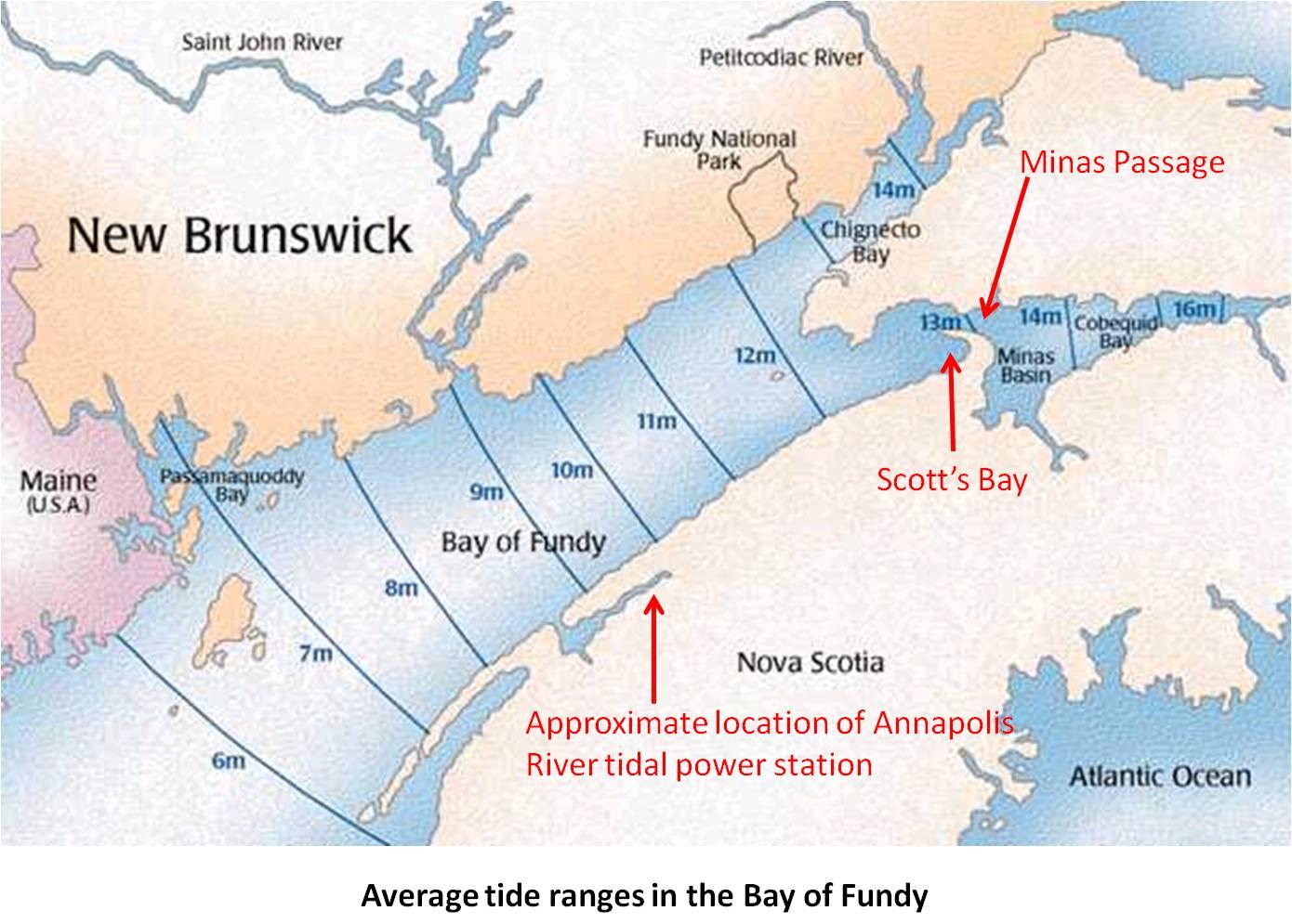 A Tidal Power Lagoon In Nova Scotia S Scott S Bay Earth Science