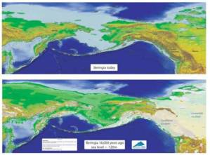 Beringia today and LGM