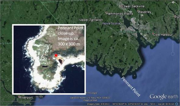 Pennant point from Google Earth