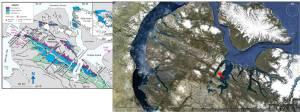 Baffin Island Borden Basin Google Earth and Geol map