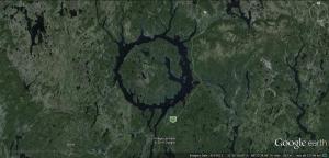 Manicouagan crater google earth