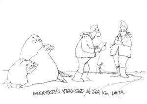 sea ice cartoon